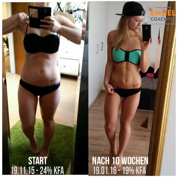 Katherina Transformation mit Sportnahrung-Engel Coaching