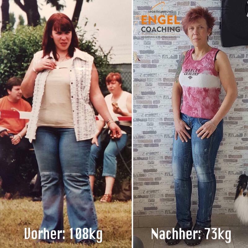 Tania Vorher Nacher mit Sportnahrung-Engel Coaching