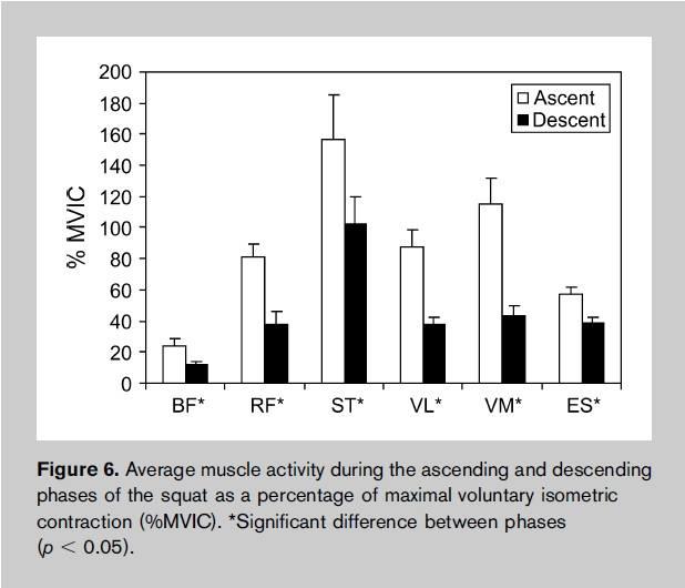 Muskelaktivität im Unterschied von Kniebeugen zu Frontkniebeugen
