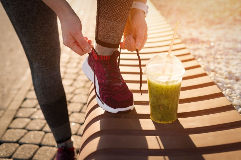 Körper mit Bewegung beim Entgiften helfen.