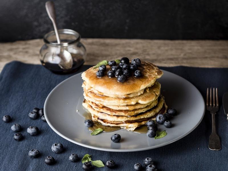 Blaubeer Protein Pancakes für Sportler