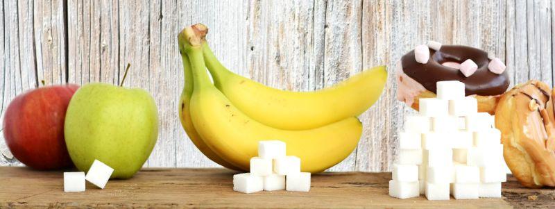 Zuckergehalt in Obst und Süßigkeiten