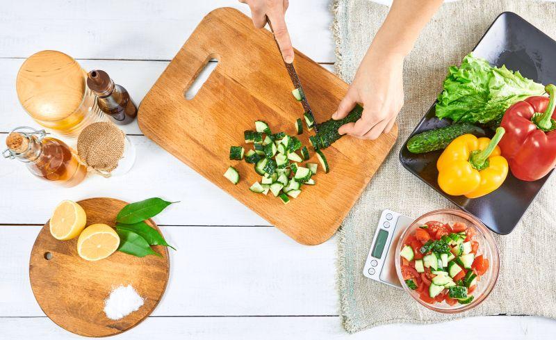 Basis Küchenutensilien der Fitnessküche
