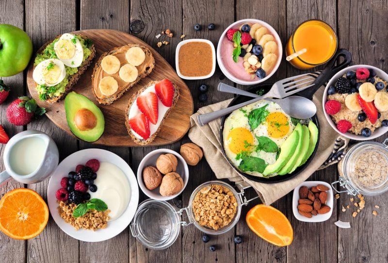 Gesundes Frühstücks Buffet im Urlaub