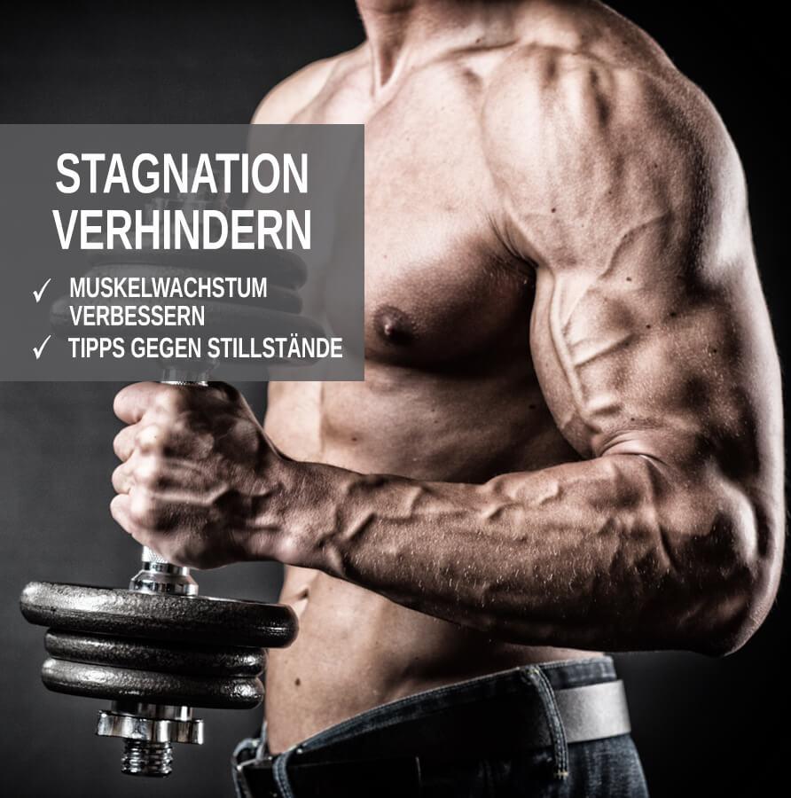 Stagnation beim Muskelaufbau verhindern