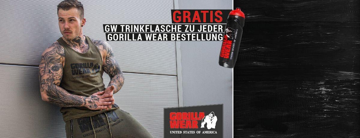 Gorilla Wear Aktion jetzt Gratis Trinkflasche zu jeder Bestellung erhalten