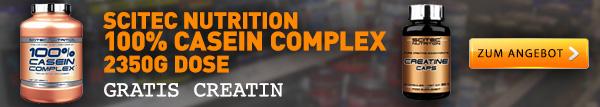 Scitec Casein + Gratis Creatin Kapseln