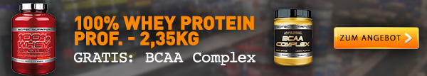 Whey Protein + gratis BCAAs von Scitec Nutrition