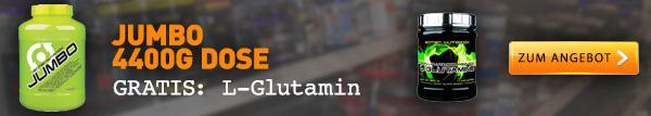 Jumbo + L-Glutamin gratis von Scitec Nutrition