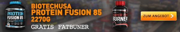 Protein Fusion 85 +  Gratis Fatburner Kapseln