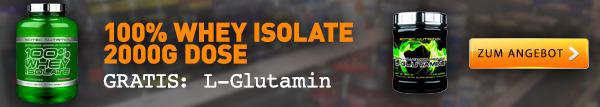 Whey Isolat + L-Glutamin gratis von Scitec Nutrition