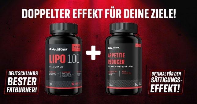 Body ATtack Lipo 100 plus Appetitte Reducer eine starke Kombi