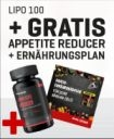 Lipo 100 + Gratis Appetite Reducer und Ernährungsplan