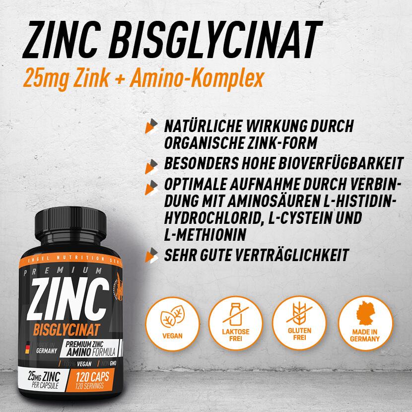 Zinc Bisglycinat Highlights Engel Nutrition XS