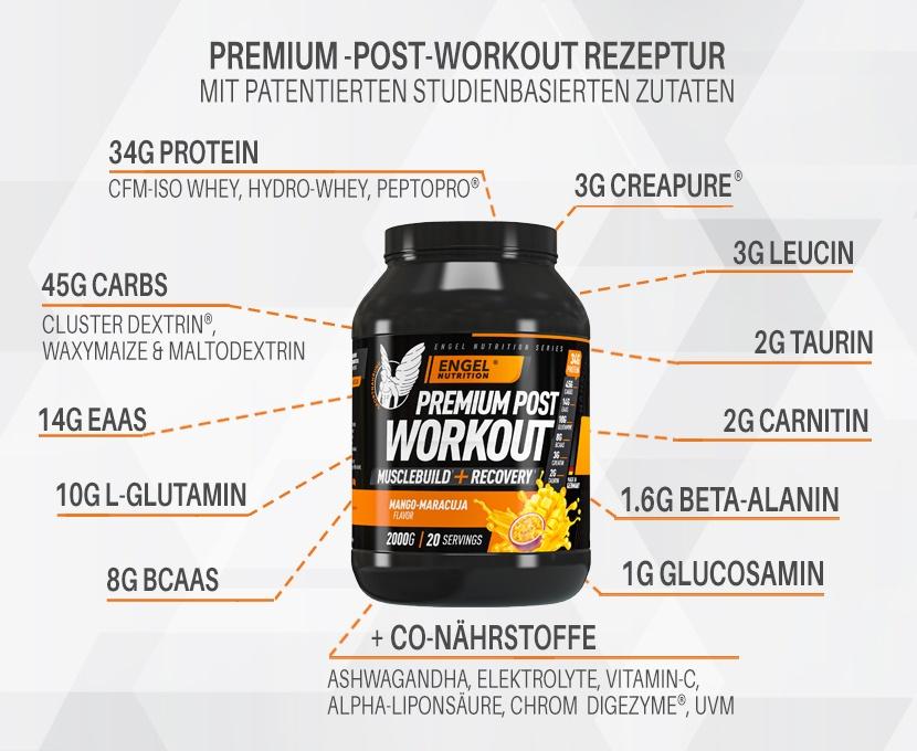 Inhaltsstoffe Engel Nutrition Post Workout Shake XS