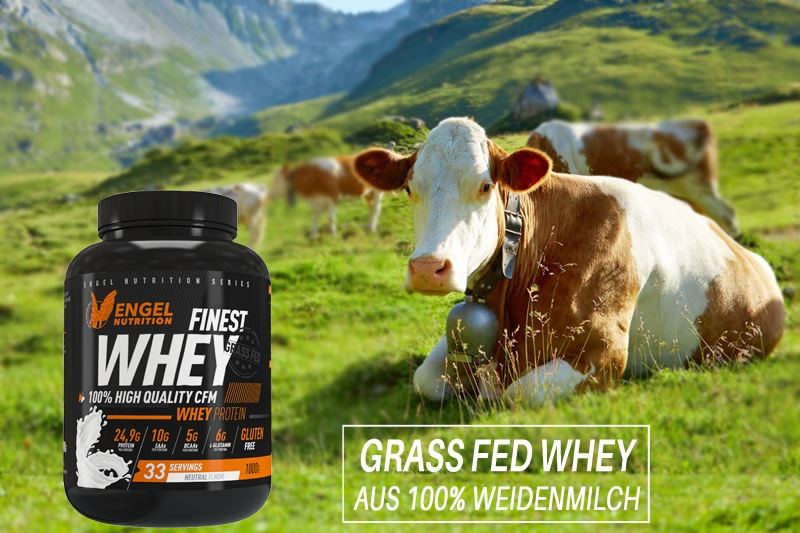 Engel Nutrition Finest Grass Fed Whey Protein - Weidemilch von grasgefütterten Kühen XS