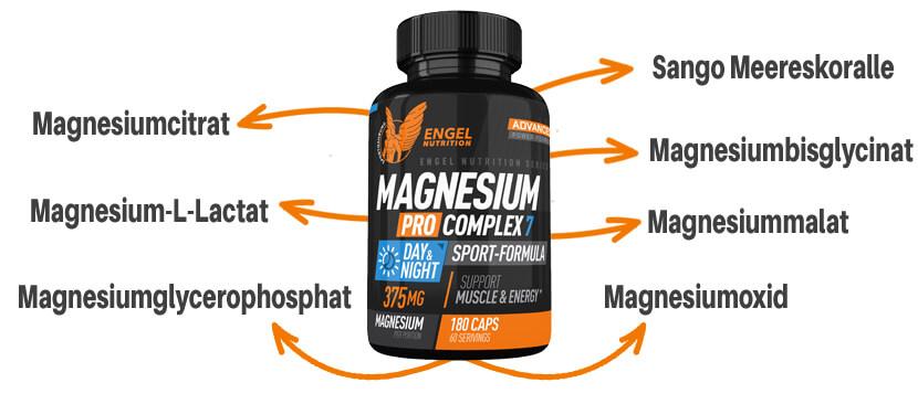 7 Magnesium Formen im Engel Nutrition Magnesium Pro Complex