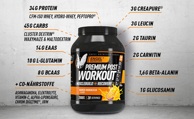 Inhaltsstoffe Engel Nutrition Post Workout Shake LG