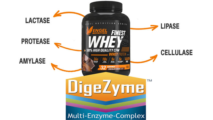 Digezyme Finest Whey Engel Nutrition