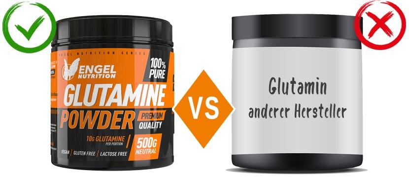 Vergleich L-Glutamin von Engel Nutrition LG