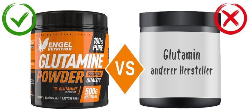 Vergleich L-Glutamin von Engel Nutrition XS