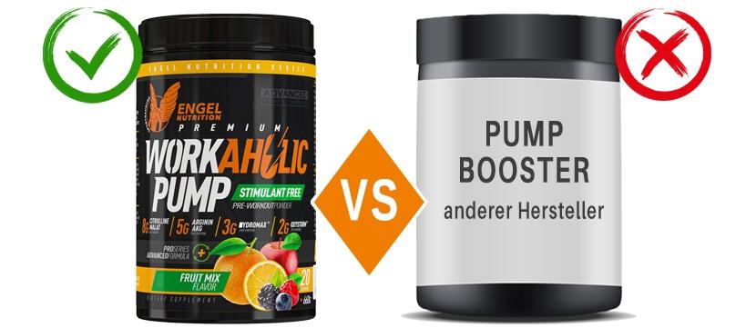Engel Nutrition Workaholic Pump im Vergleich XS