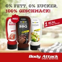 Low Carb Saucen und Dressings von Body Attack für die Diät