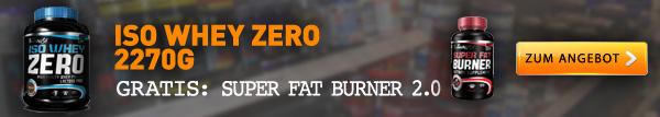 Iso Whey ZERO + gratis Fat Burner Kapseln