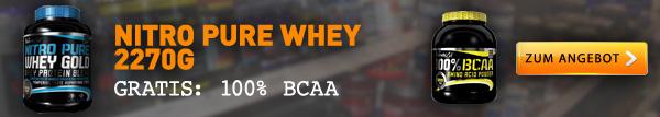 BioTechUSA Nitro Pure Whey plus BCAA Pulver gratis