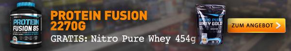 Protein Fusion Mehrkomponentenprotein plus Whey Protein gratis