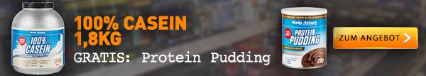Casein Protein + gratis Protein Pudding