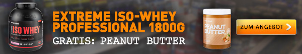 Iso-Whey + gratis Low-Carb Peanut Butter