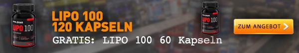 Lipo 100 Fatburner + gratis Lipo 100 mit 60 Kapseln