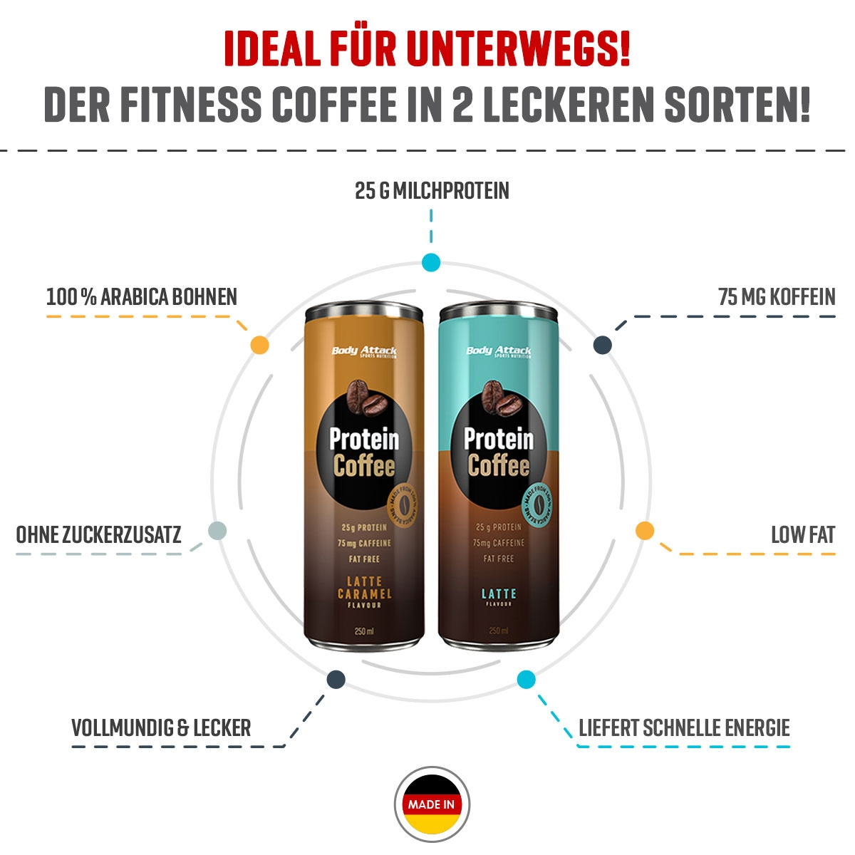 Protein Coffee von Body Attack