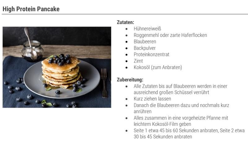 High Protein Pancake zum Frühstück zum Muskelaufbau