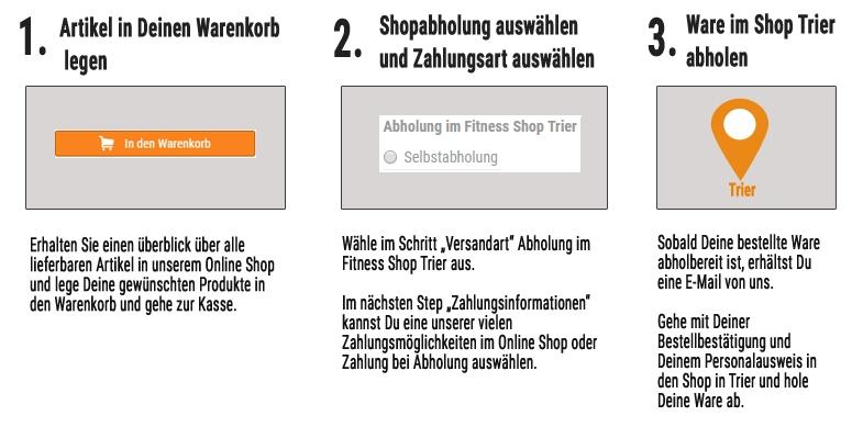 So einfach geht die Abholung von Ware im Shop Trier