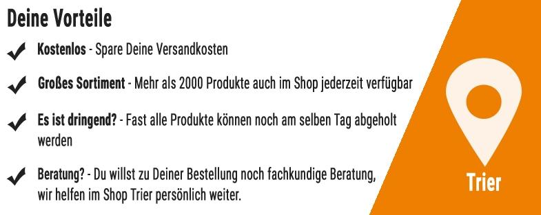 Vorteile einer Online Bestellung und Abholung im Shop Trier