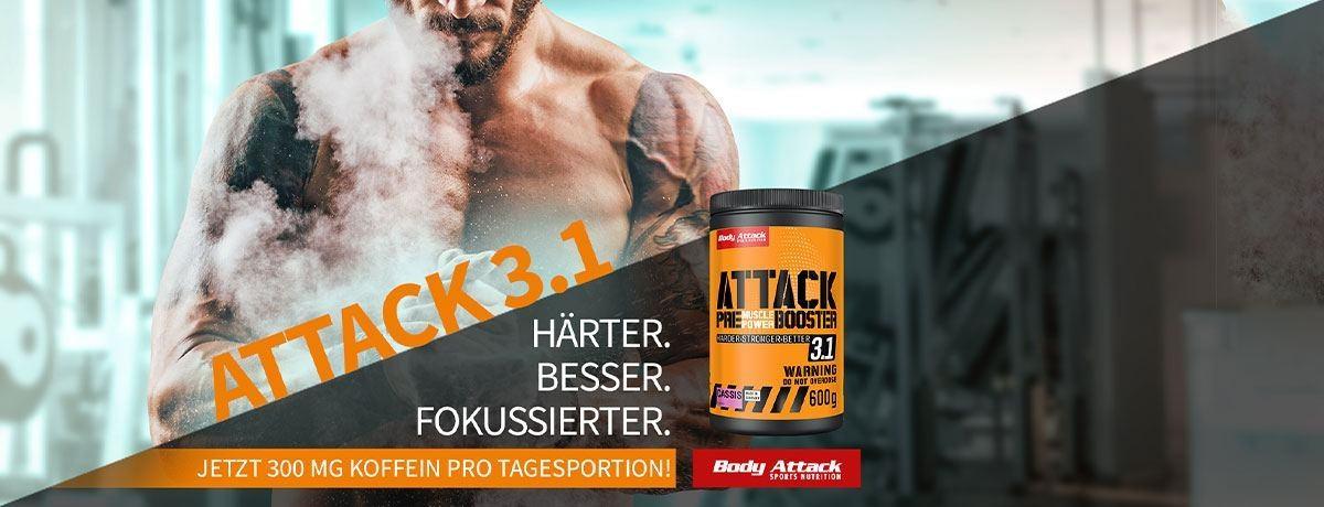 Neu bei Sportnahrung-Engel - Der Body Attack Pre Attack 3.1 Booster