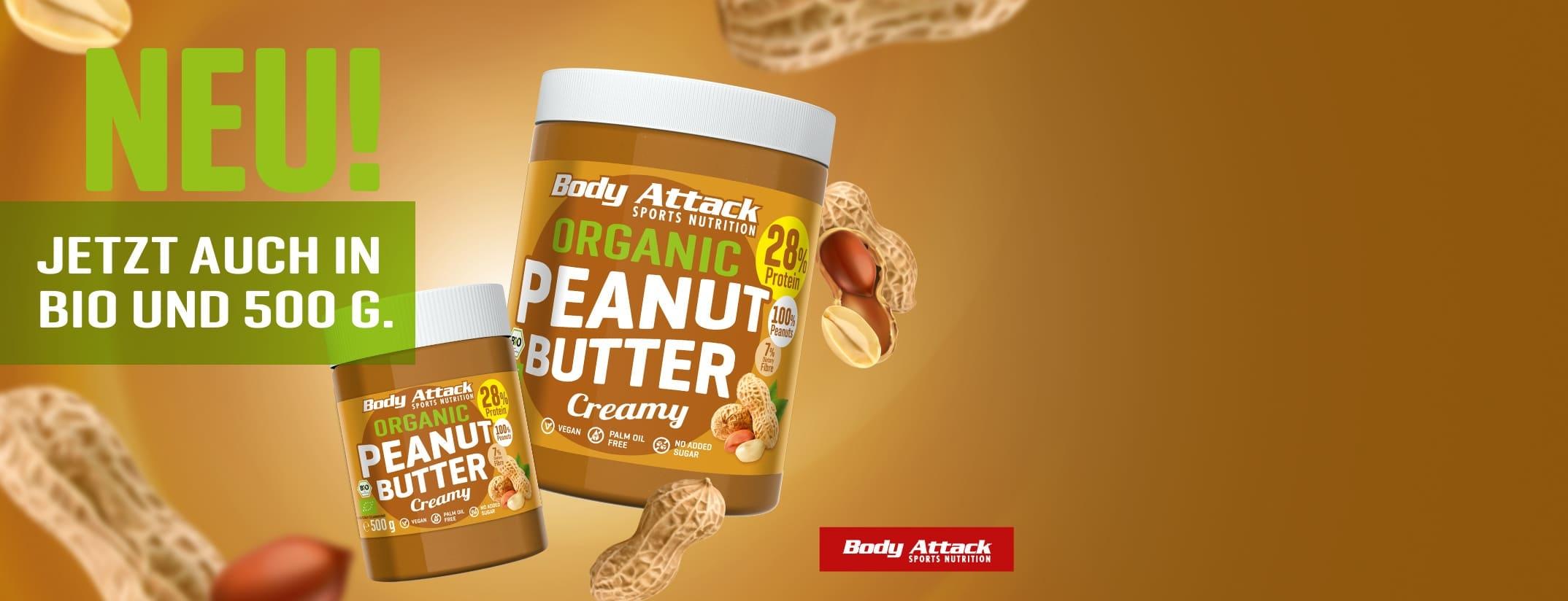 Bio Erdnussbutter mit High Protein für Diät und Muskelaufbau
