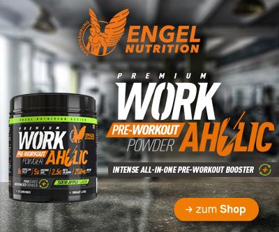 jetzt neu bei Sportnahrung Engel - Engel Nutrition WORKAHOLIC