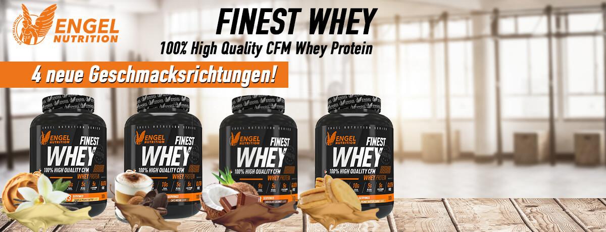 4 neue Geschmacksrichtungen Finest Whey Protein