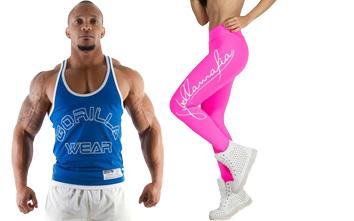 Fitnessbekleidung für Männer und Frauen