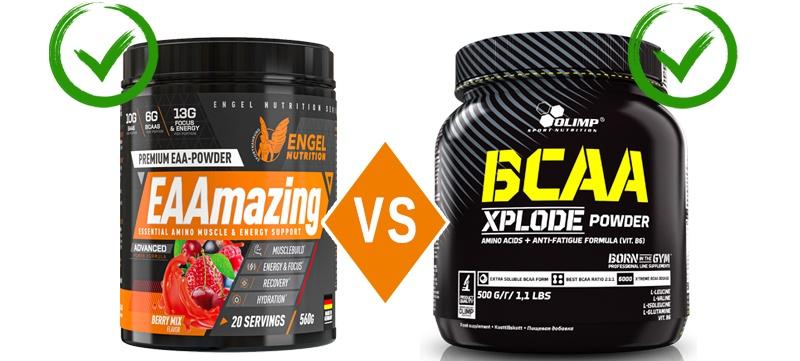 EAA und BCAA Vergleich