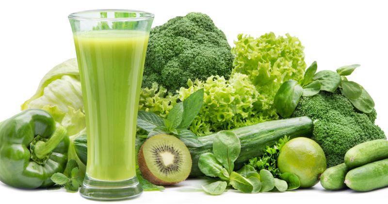 Grünes Gemüse für Gemüsepulver