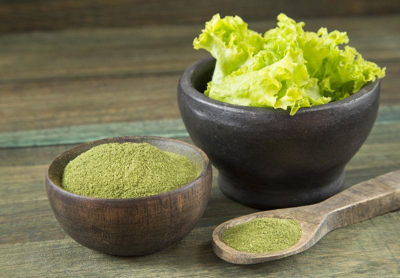 Gesundes Gemüsepulver mit viel Vitaminen und Mineralstoffen