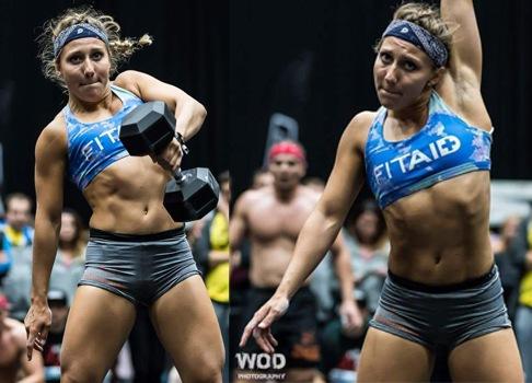 Crossfit Wettkampf einer Frau