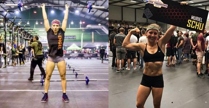 Crossfit Athletin bei einem Wettkampf