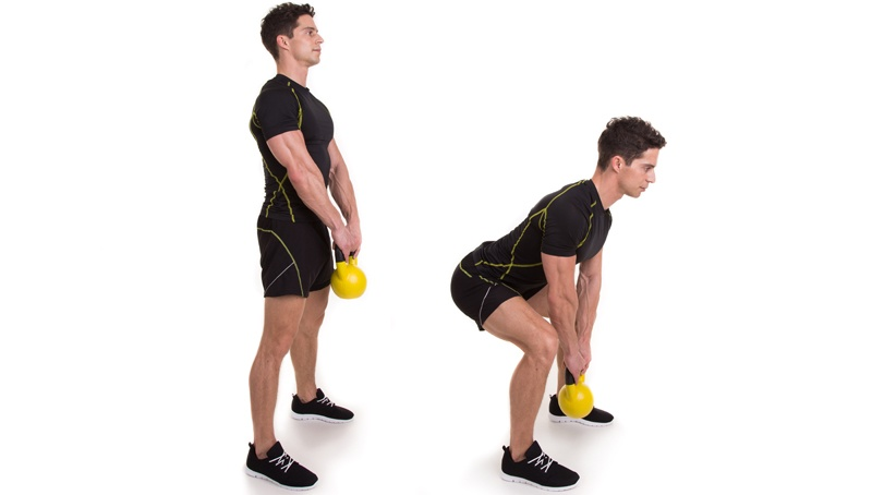 Kettlebell Übung Kreuzheben