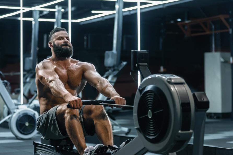 Cardiotraining Rudern Bodybuilding Mann