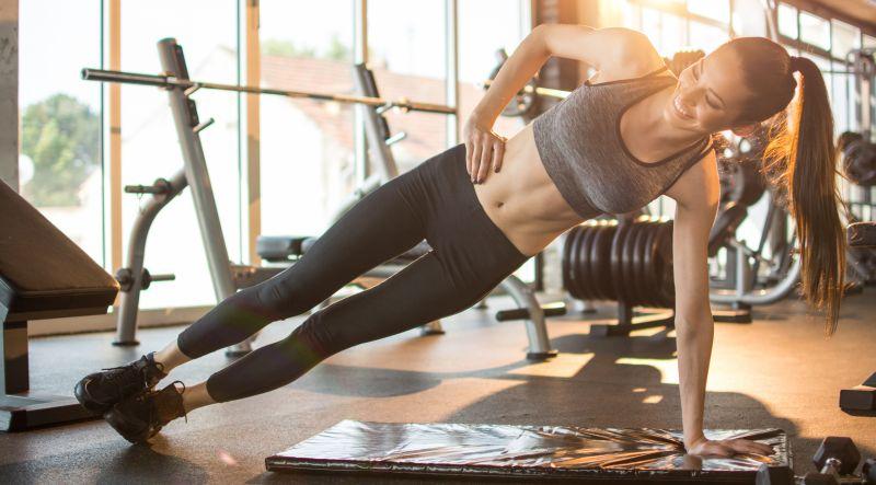 Seitstütz verbessert die Kopf Muskel Verbindung